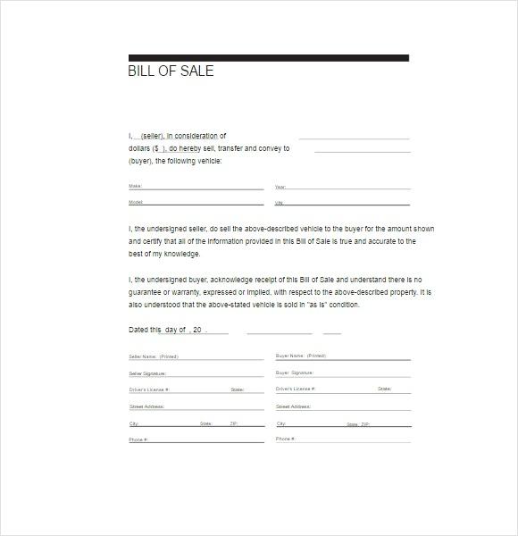 Customizable Automobile Billing Form
