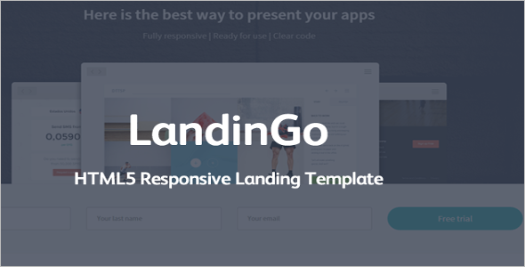 Customizable Landing Template