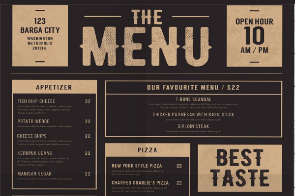 20+ Food Menu Designs Free PSD, Vector Templates