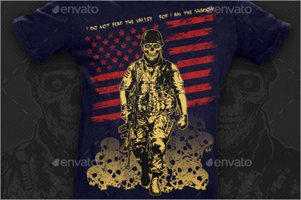 Design Skull Soldier Template