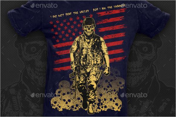 Design Skull Soldier Template