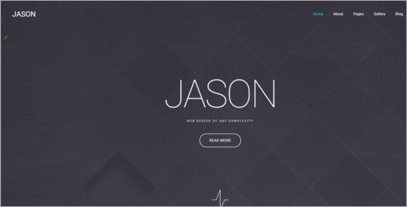 Designer Personal Portfolio Joomla Template