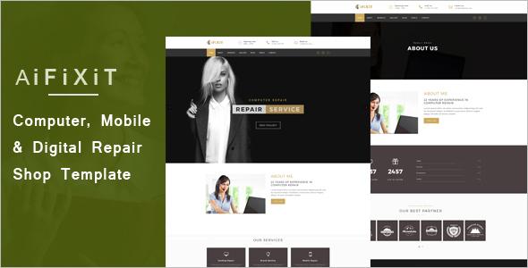 Digital Repair Website Template