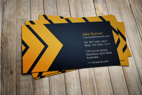 Direction Business Card Template