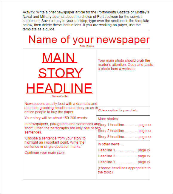 Download Newspaper Template