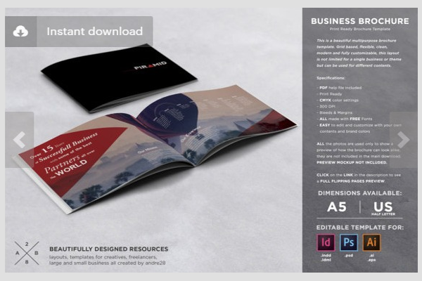 40 creative brochure designs samples free premium templates for Elegant brochure templates