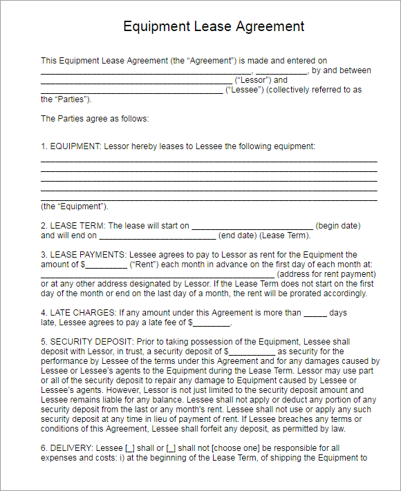 Downlodable Rental Lease Agreement