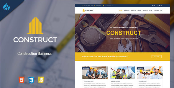 Drupal 8 Construction & Business Theme