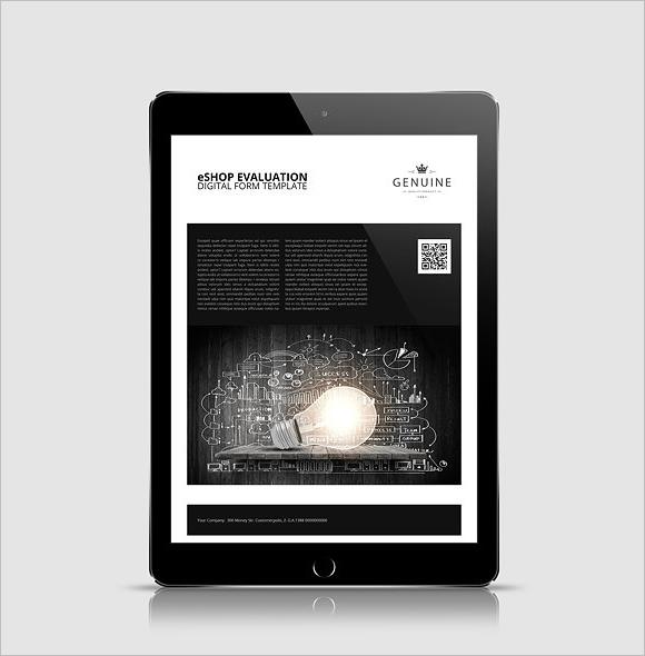 E-Shop Evaluation Digital Form Template