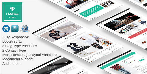E-commerce Flat Joomla Template