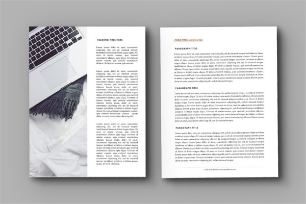 Ebook Design Template Model