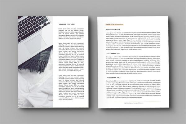 Ebook Design Template Model