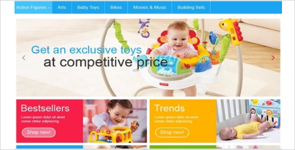 Editable Baby Oscommerce Template