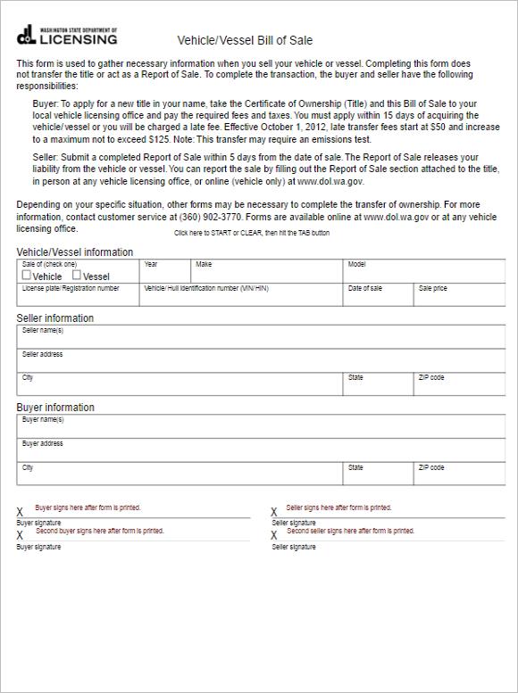 Editable Billings Forms Outlook