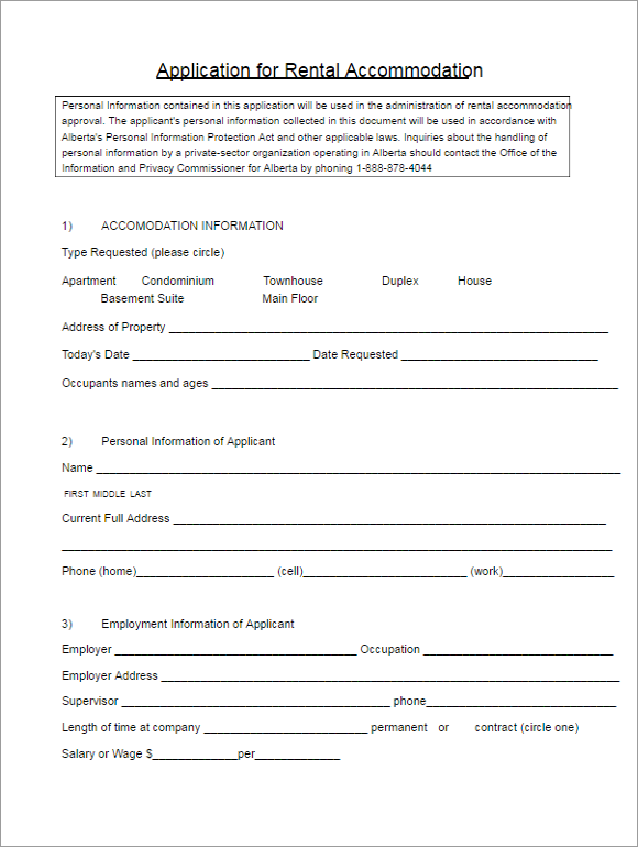 Editable Contract Form Ideas
