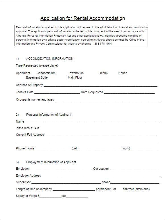 Editable Contract Form Ideas