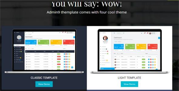 Editable Html Admin Templates