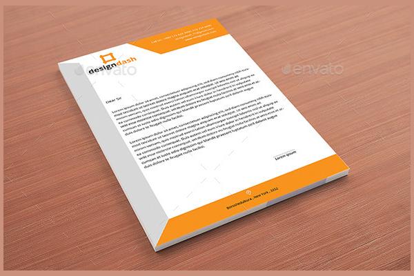 Editable Standerd Letterhead Pad