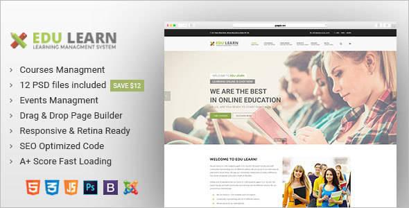 Education Joomla Design Template