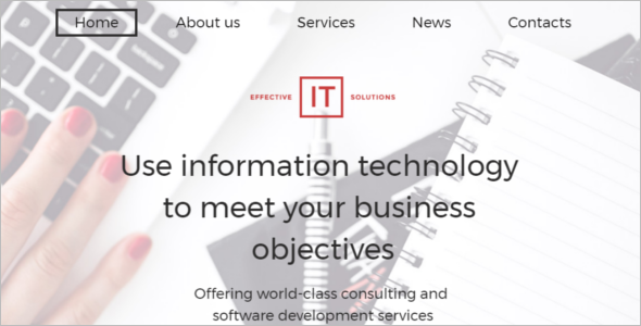 Effective IT Solutions Website Template