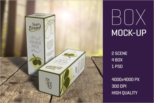 ElegantProduct Box Mockup