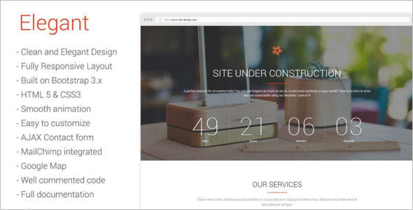 Elegant Under Construction Template