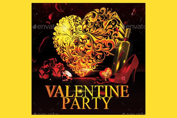 Elegant Valentine Party Flyer