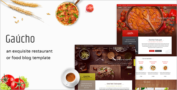 Entertiment Restaurant & Cafe Joomla Template