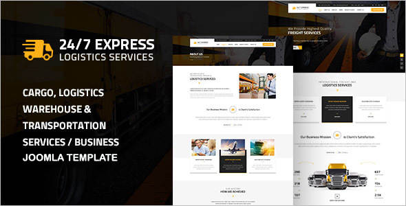 Express Logistics Services Joomla Template