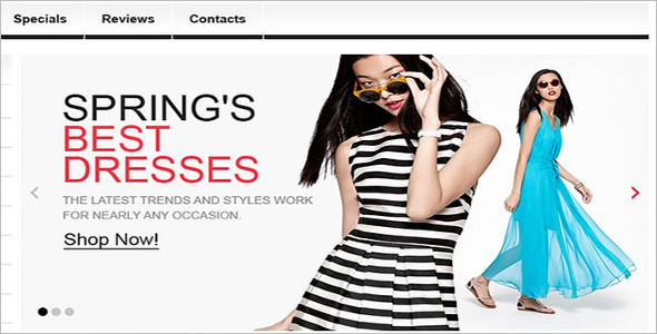 Fashion Clothes OsCommerce Template