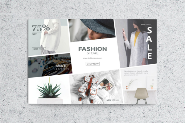 Fashion Look Ad Design Outlook