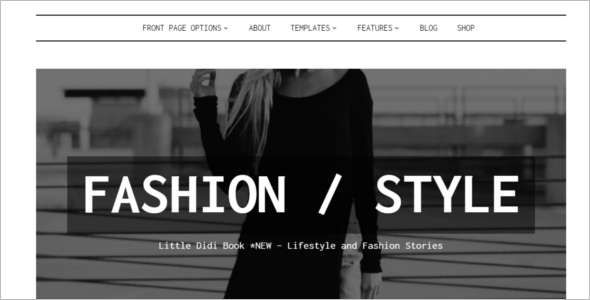 Fashion Store Boutique WordPress Template