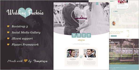 Fashion Wedding Joomla Template
