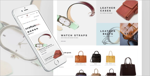 Fashionable Leather Shopify Template