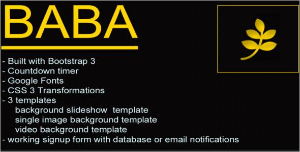 Feature HTML Google Slider Template