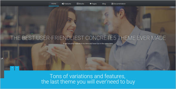 Features Concrete5 Template