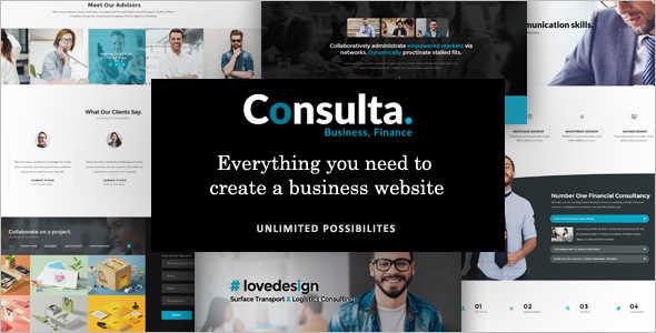 Financal Consultancy Business Website Template