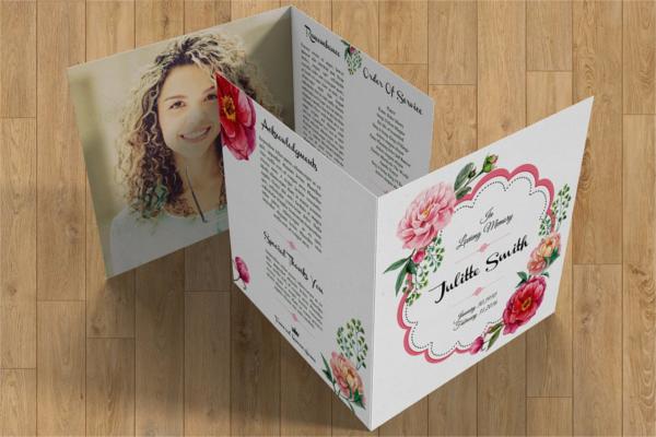 Floral Funeral Template Brochure