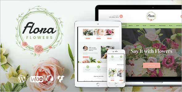 Flowers Boutique Website Template