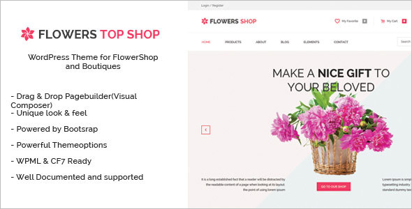 Flowers Boutique WordPress Theme