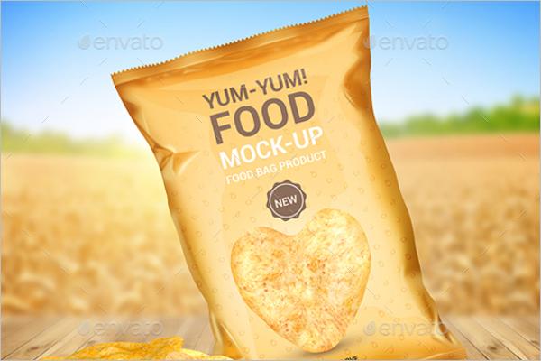 Food Bag Product Mock-Up