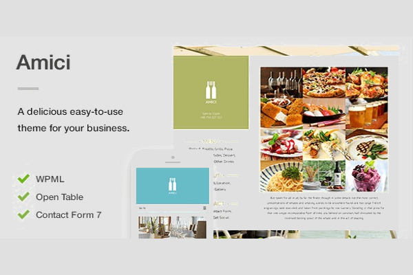 Food Restaurant Website Menu