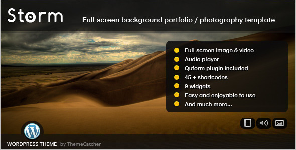 Full Screen Background Video Website