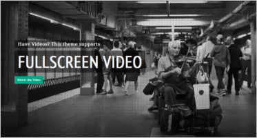Full Screen Video Website Templates
