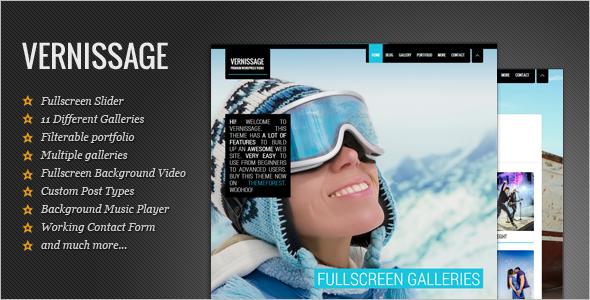 Fullscreen Photo Studio WordPress Theme