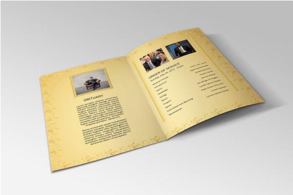 Funeral Brochure Service Template