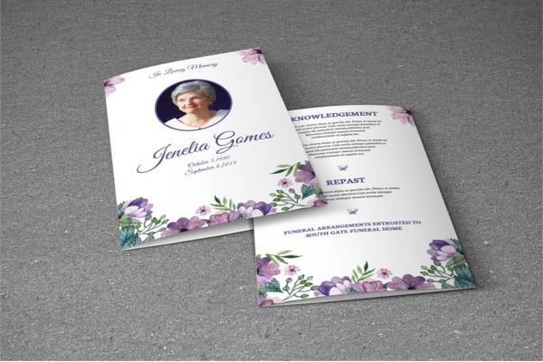 Funeral Program Template Design