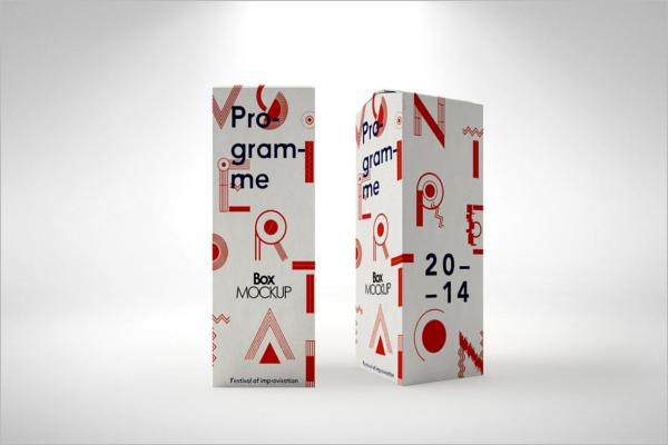Graphic Product Box Mockup