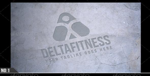 Grunge Realistic logo Background