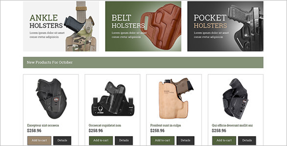 Gun Accessories OsCommerce Template